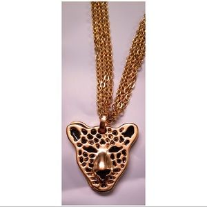 Forever 21 Necklace Panther 4 Strand Chain Gold